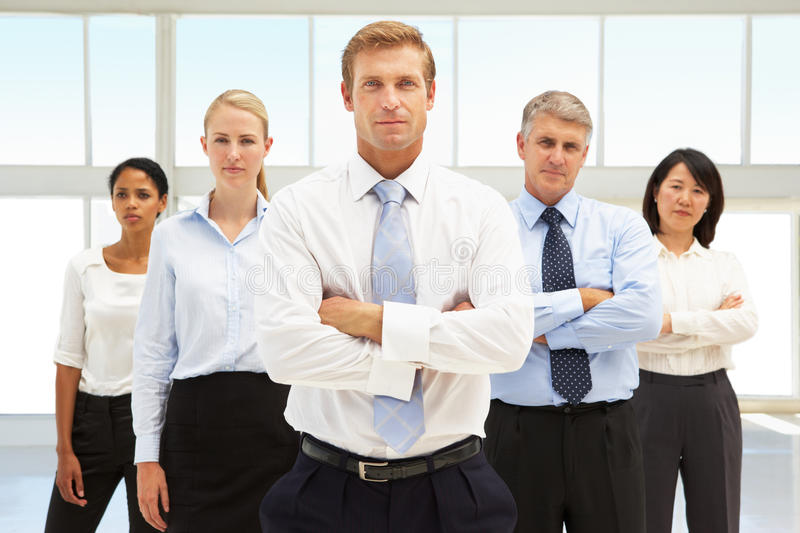 Confident business people royalty free stock photos