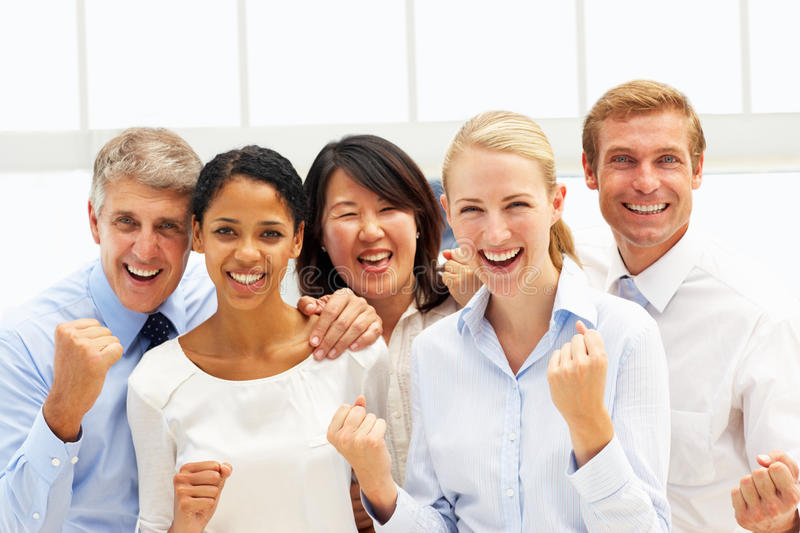 Confident business people stock photos