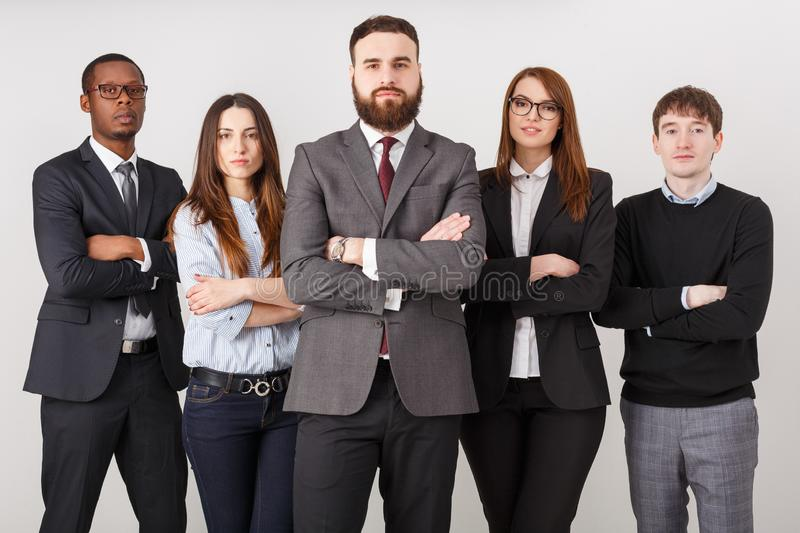 Confident business people in office royalty free stock photo