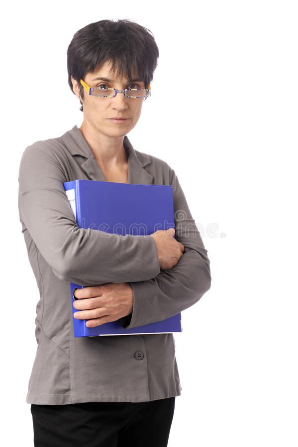 Confident business woman, arms crossed