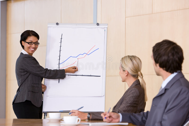 Confident Business Woman Giving Presentation Stock Photos