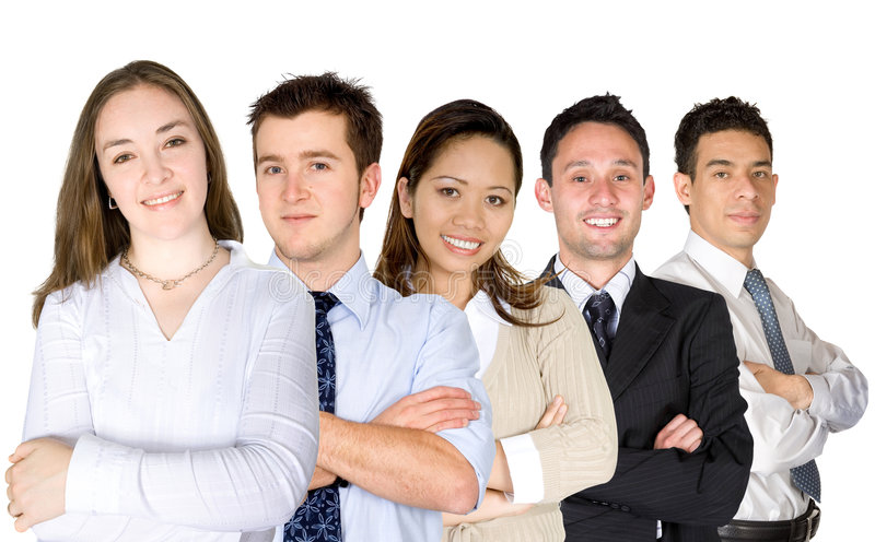 Download Confident Business Woman And Her Team Stock Image - Image: 1884715