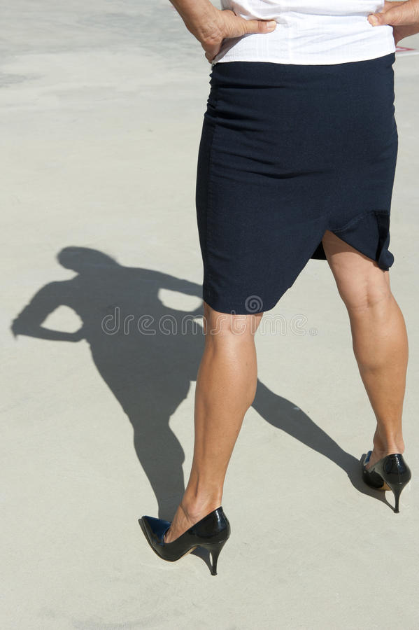 Confident Business Woman in High Heels royalty free stock images