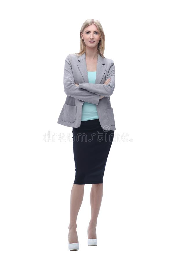 Free Confident Business Woman. Isolated On Grey Background Royalty Free Stock Photo - 159182615