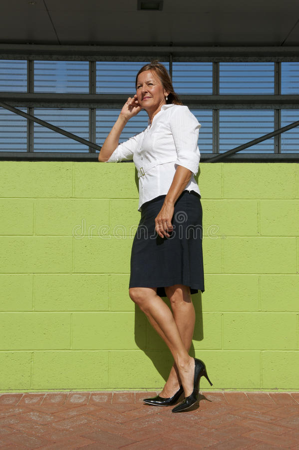 Confident Business Woman Posing Outdoor stock photo