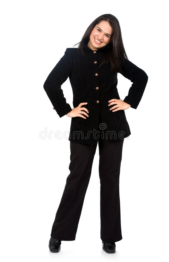 Download Confident Business Woman Standing Stock Image - Image: 4061777