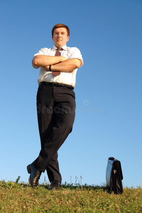 Download Confident businessman stock photo. Image of meadow, ahead - 4107126