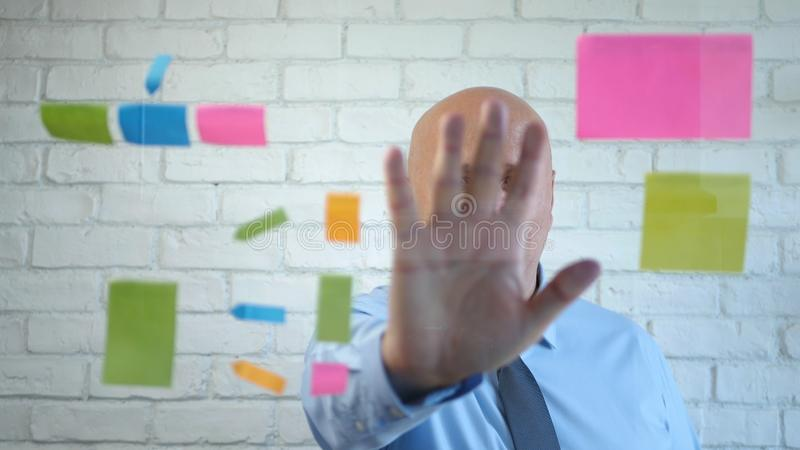 Confident Businessman Analyze Explain a Business Project in a Meeting stock photos