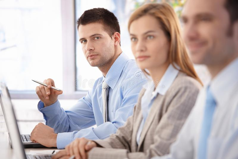 Download Confident Businessman At Business Training Stock Image - Image: 36503221