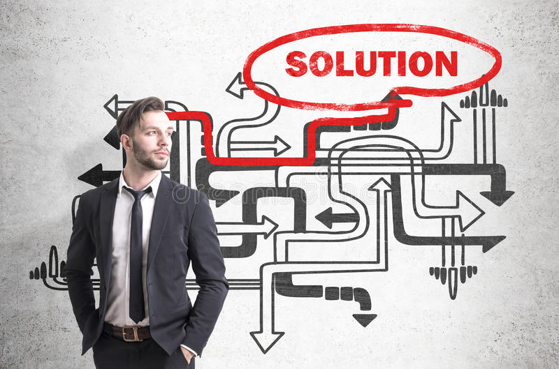 Download Confident Businessman Found A Solution Stock Photo - Image: 83722250