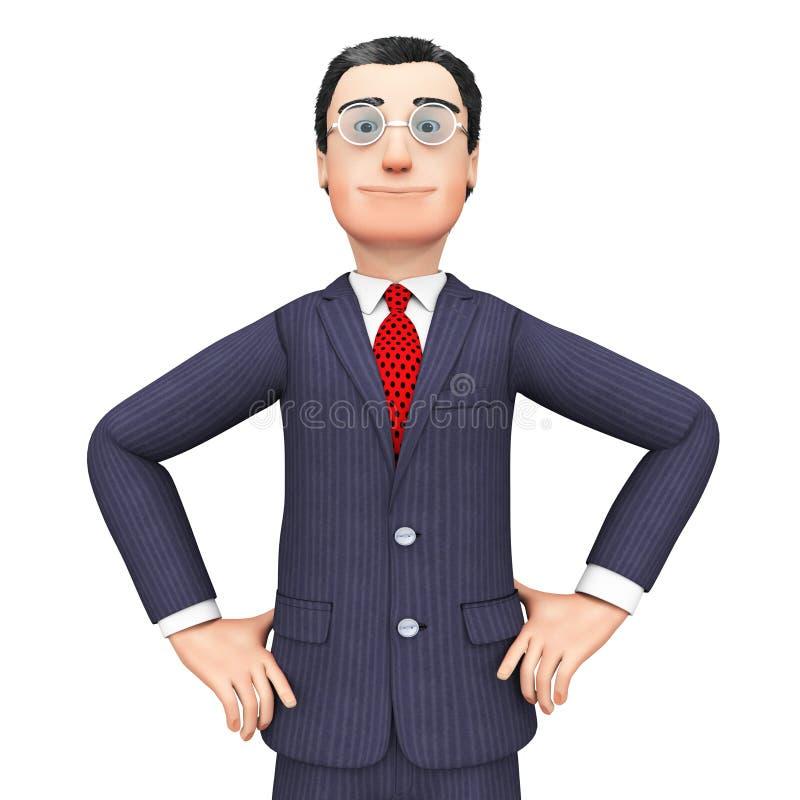 Confident Businessman Means Honored Executive e Corporation immagini stock libere da diritti