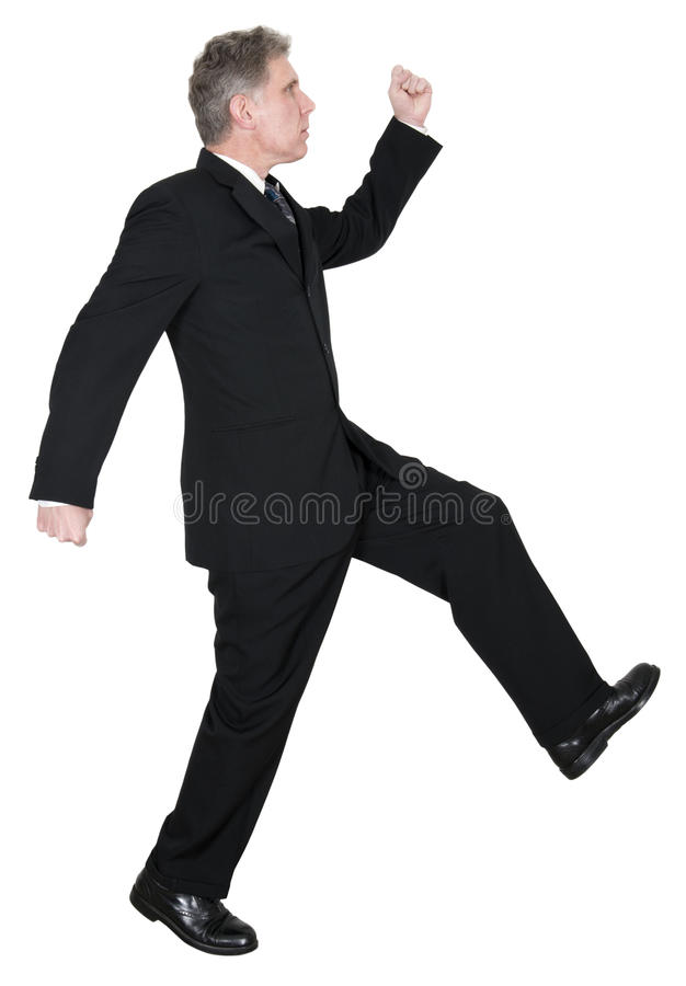 Download Confident Businessman Walking, Isolated On White Stock Photo - Image: 28750922