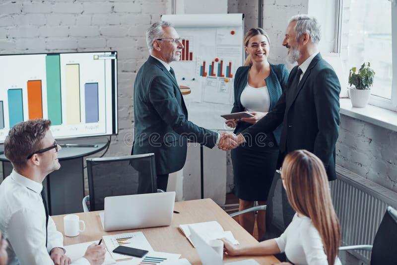 Confident businessmen image libre de droits