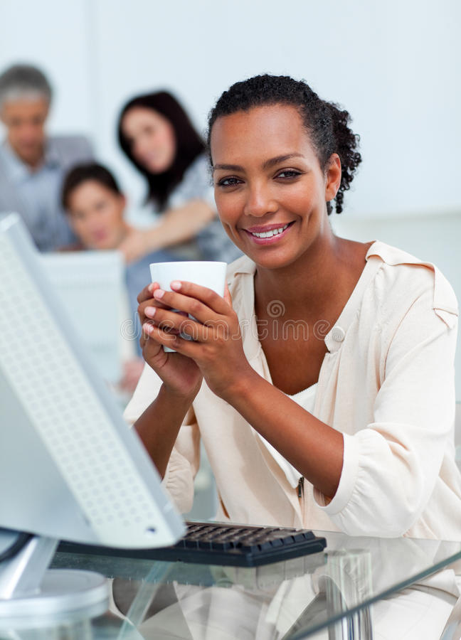 Download Confident Businesswoman Drinking A Coffee Stock Photo - Image: 13044278