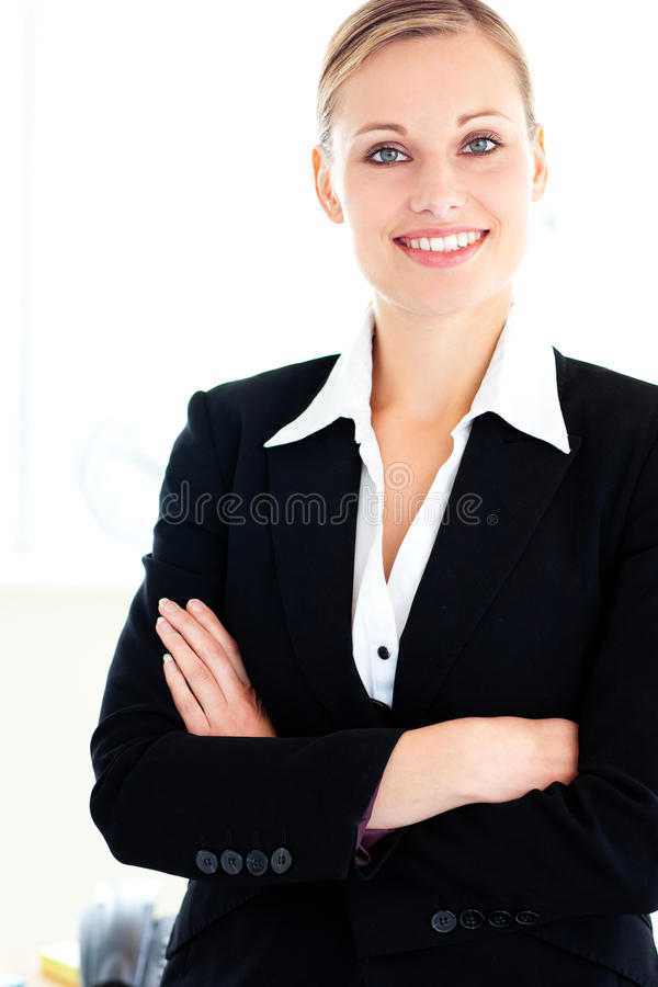 Confident businesswoman looking at the camera royalty free stock photography