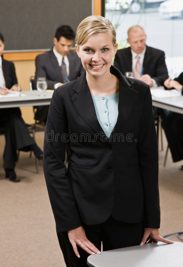 Download Confident Businesswoman Preparing For Presentation Stock Image - Image: 6603637