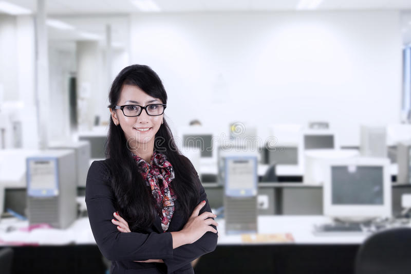 Download Confident Businesswoman Smiling Stock Image - Image: 31743825