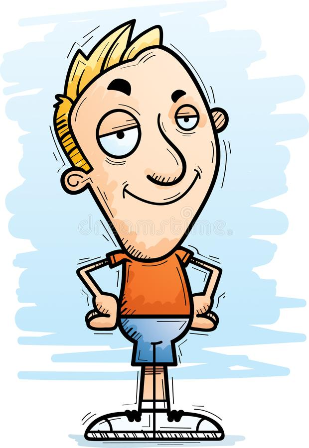 Confident Cartoon Man. A cartoon illustration of a man looking confident royalty free illustration
