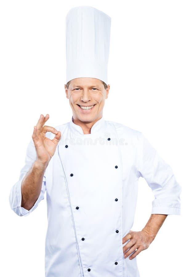 Confident chef. stock photo