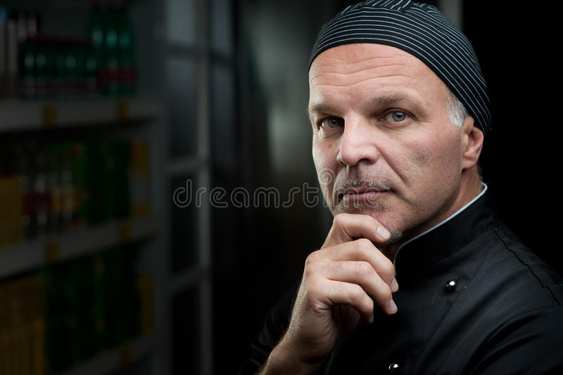 Confident chef royalty free stock photography
