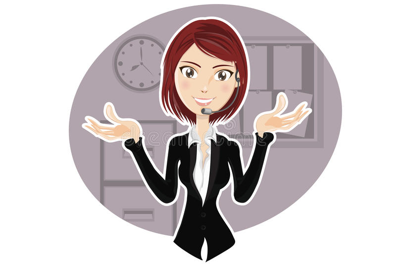 Download Confident Customer Service Representative Stock Vector - Image: 20373250