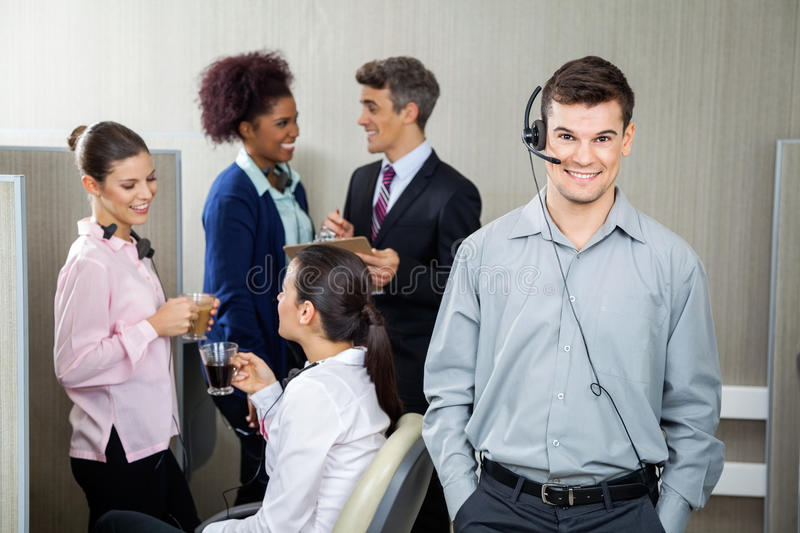 Confident Customer Service Representative Wearing royalty free stock images