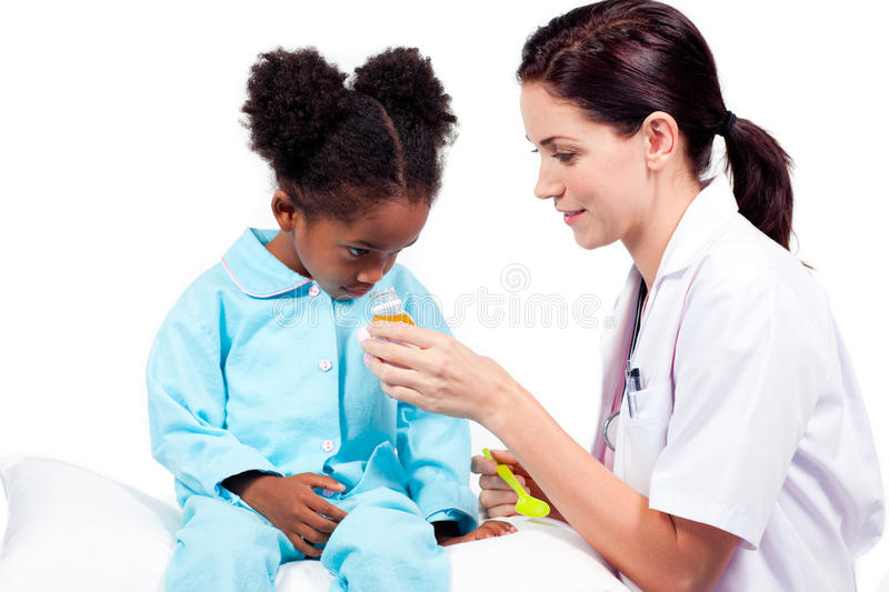 Download Confident Doctor Giving Medicine To Her Patient Stock Image - Image: 12716089