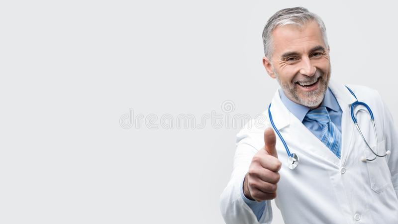 Confident doctor posing royalty free stock photo