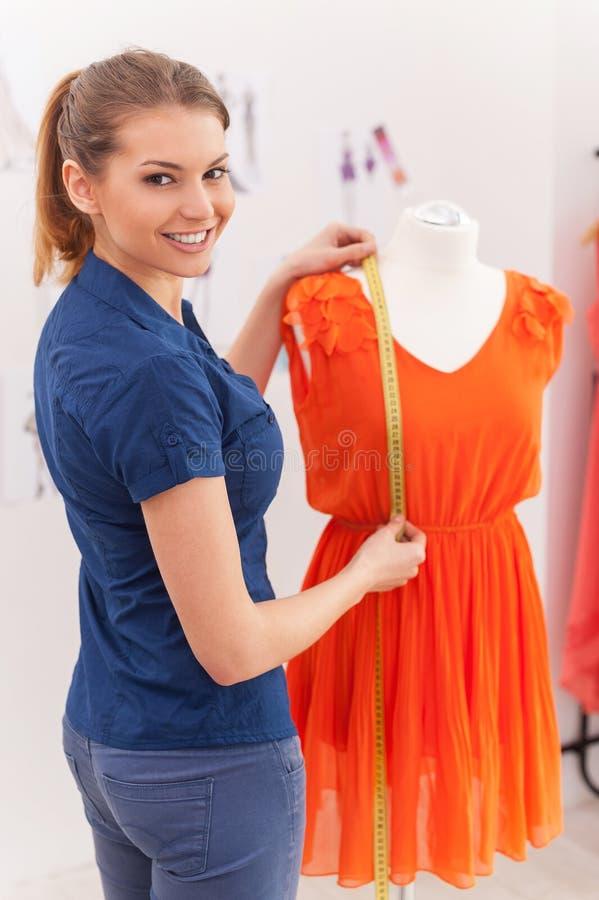 Confident fashion designer. royalty free stock image
