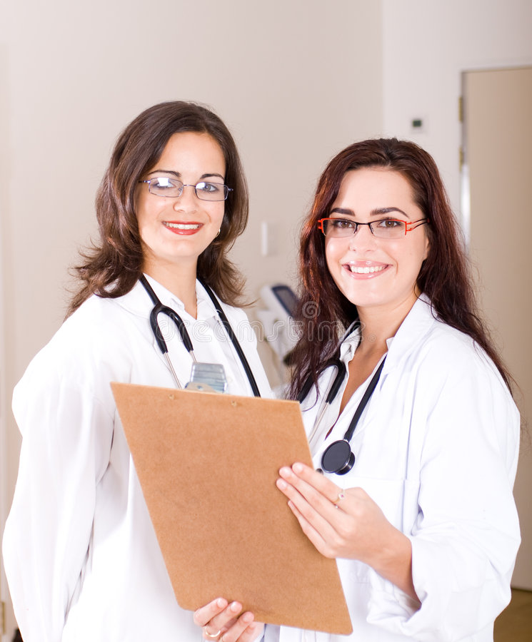 Download Confident female doctors stock image. Image of glasses - 8182077