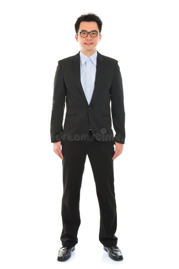 Confident full body Asian business man stock photo