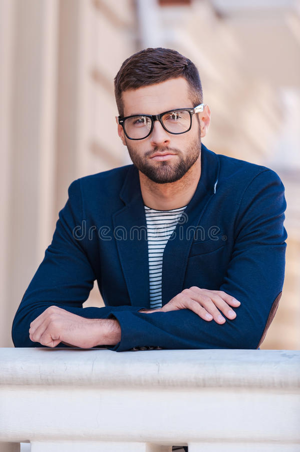 Confident handsome. royalty free stock images