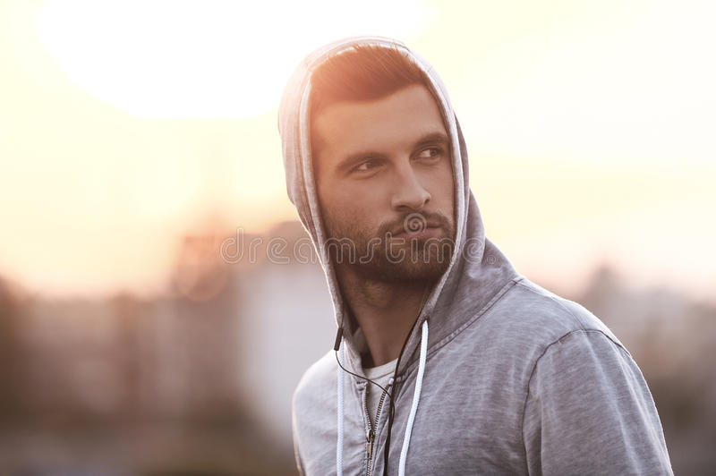 Confident handsome. stock images