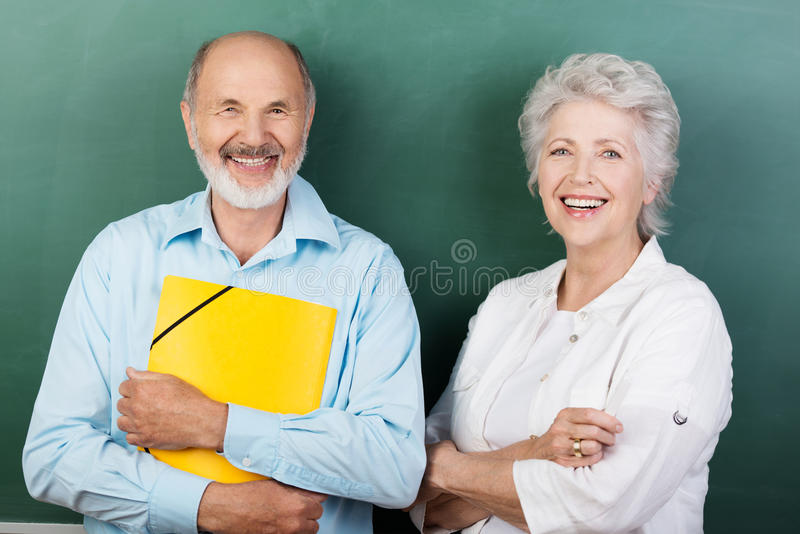 Confident happy senior couple royalty free stock images