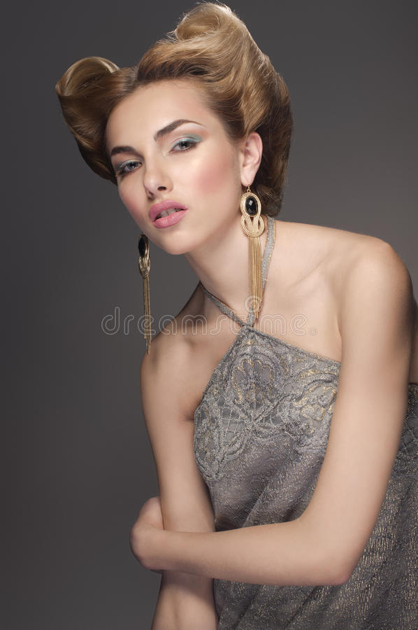 Confident in her beauty. stock images