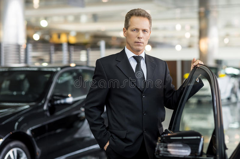 Confident in his choice. royalty free stock photography