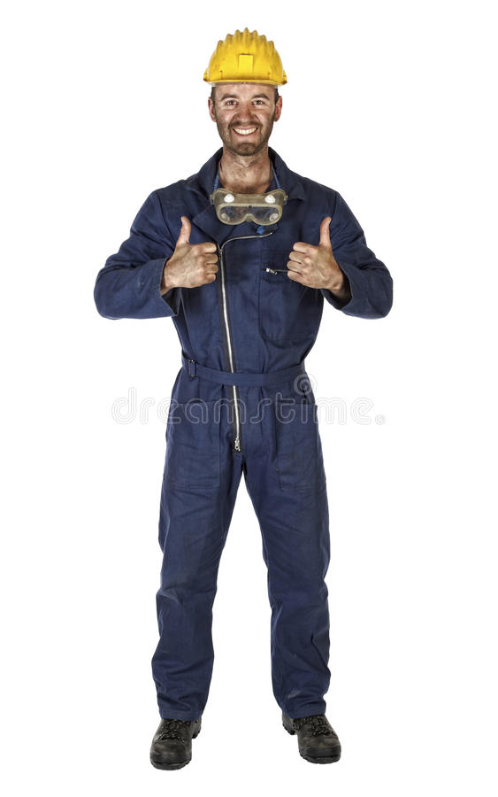 Free Confident Labourer Isolated On White Royalty Free Stock Photo - 9905915