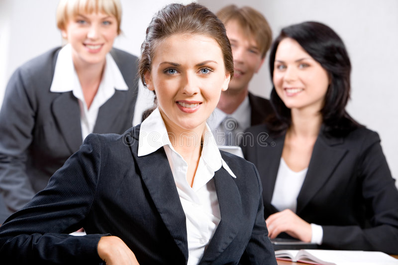 Confident leader royalty free stock images