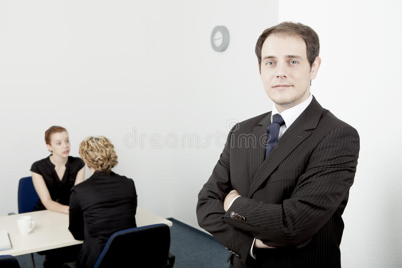 Confident leader or manager stock images
