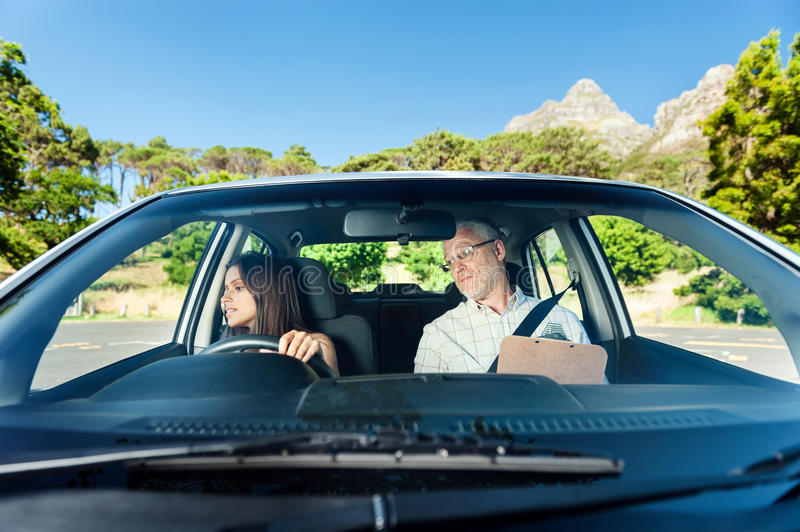 Confident learner driver stock image