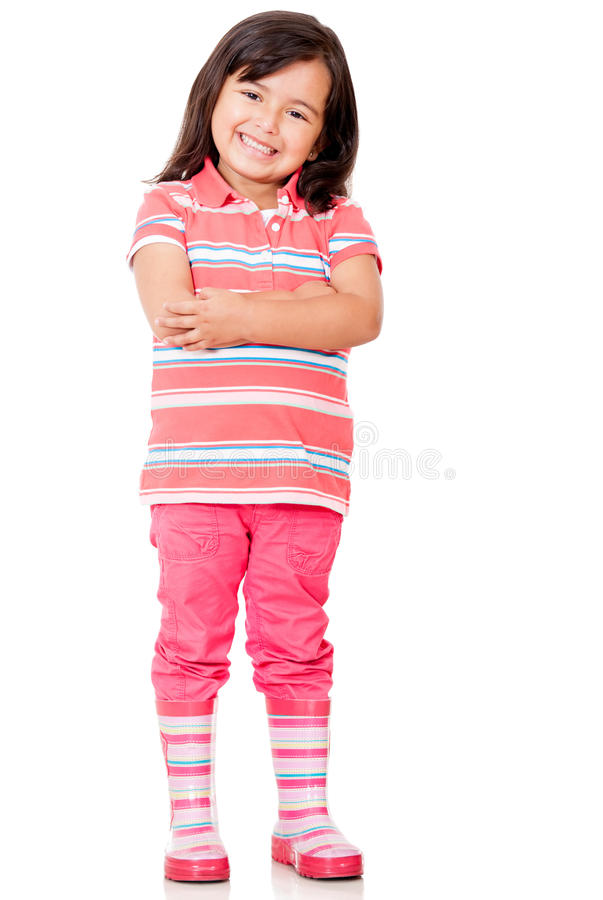 Download Confident little girl stock photo. Image of happy, fullbody - 24901184