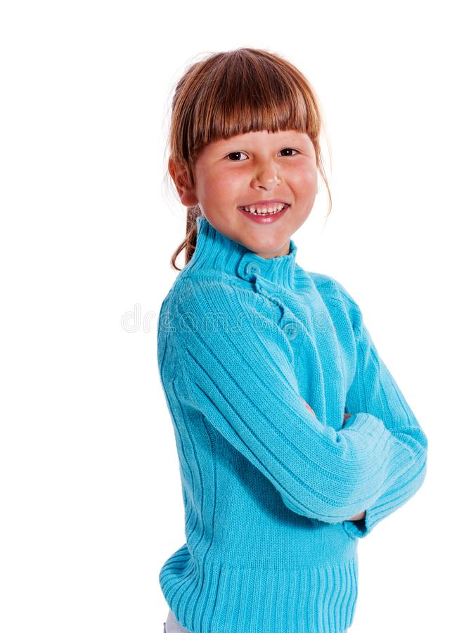 Confident little girl royalty free stock images
