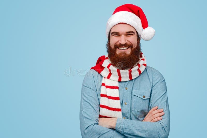 Confident man during Christmas celebration royalty free stock photo