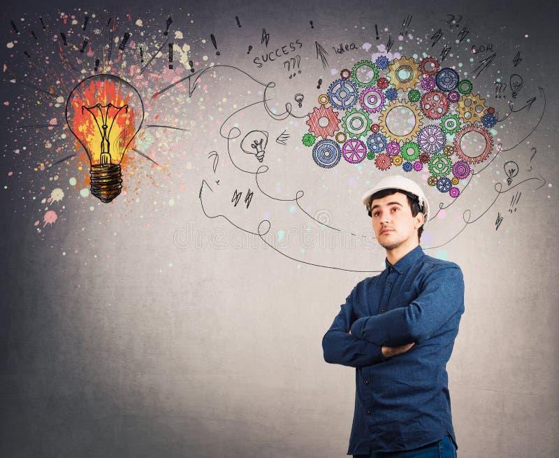 Mental development lightbulb symbol stock illustration