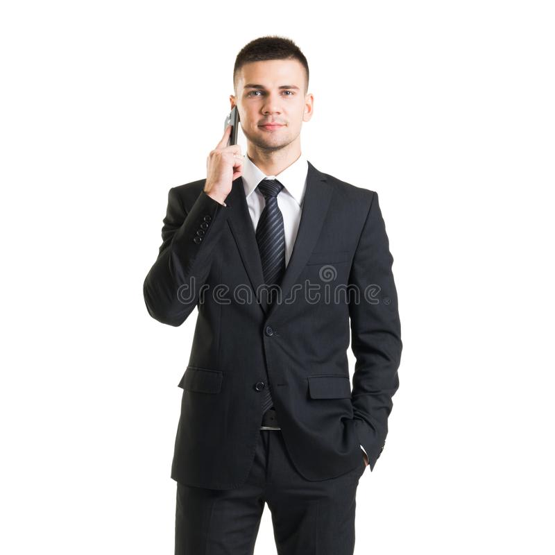 Confident man in formalwear. Businessman in suit isolated on white. stock image