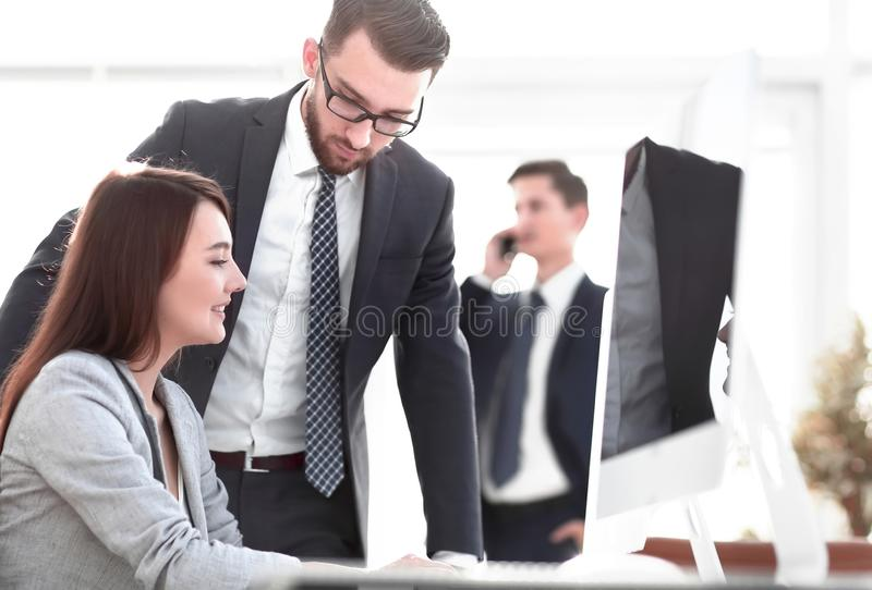 Confident man talking to his interviewer during a job interview. Confident men talking to his interviewer during a job interview.business concept stock photography