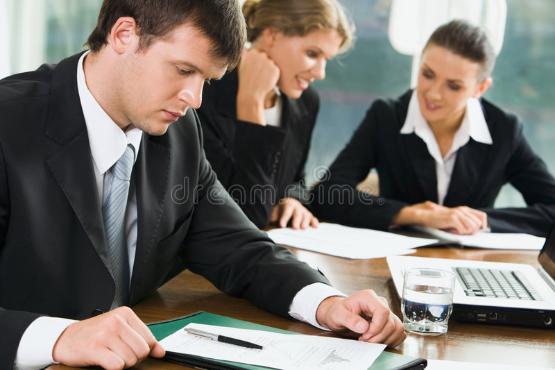 Confident manager stock photography