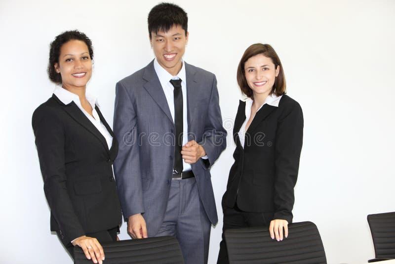 Confident multiethnic business team stock images