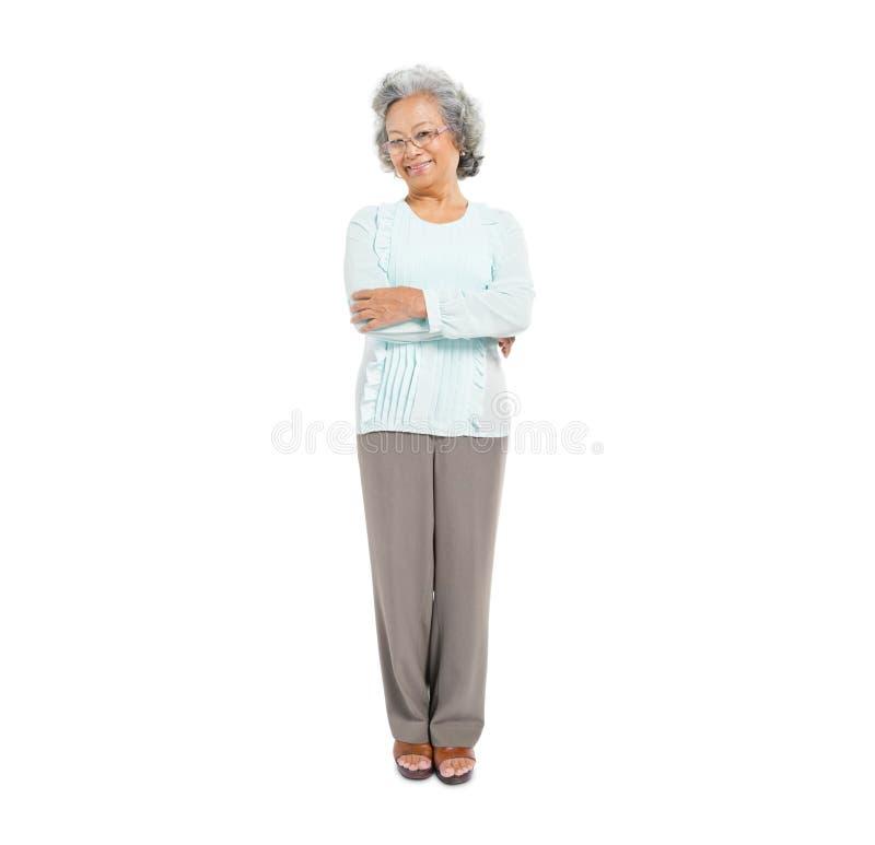 Confident Senior Asian Woman stock photo