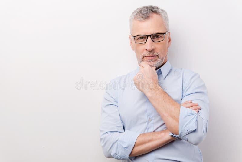Confident senior man. stock photos